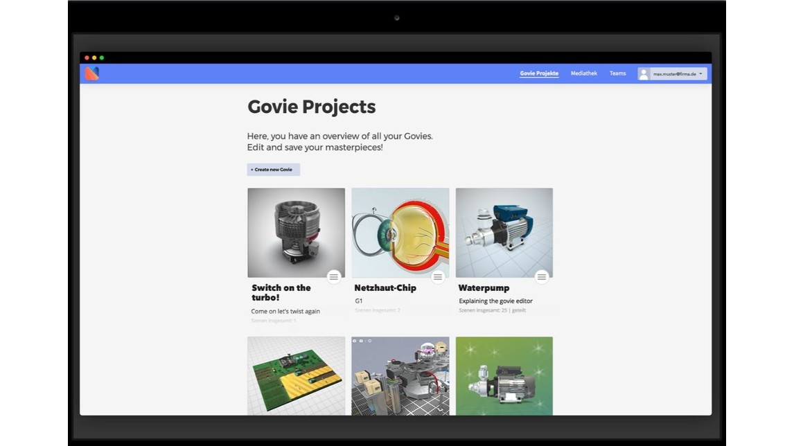 Logo Govie Editor - The platform for content