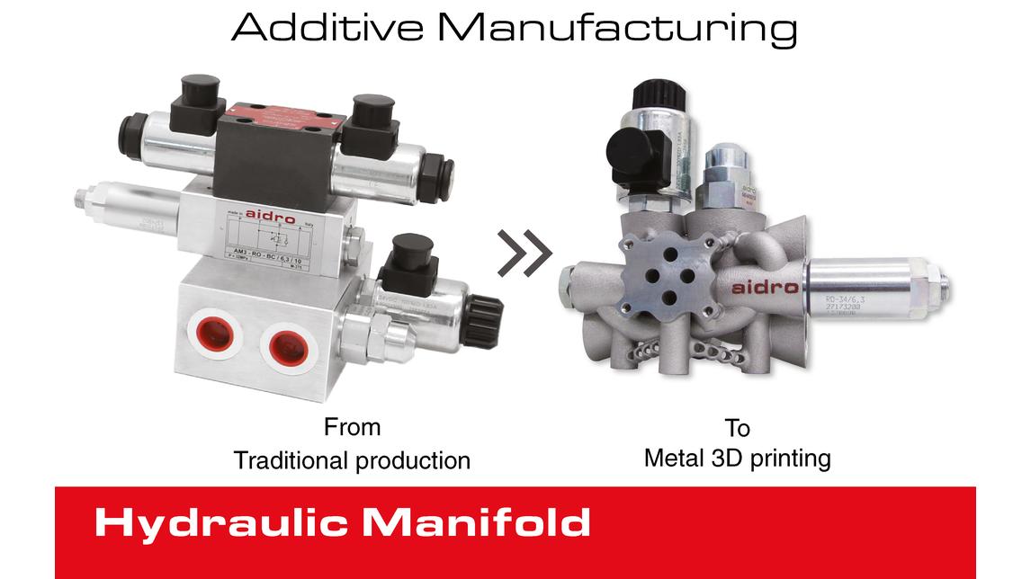 Logo Metal 3D Printed Hydraulic Manifold