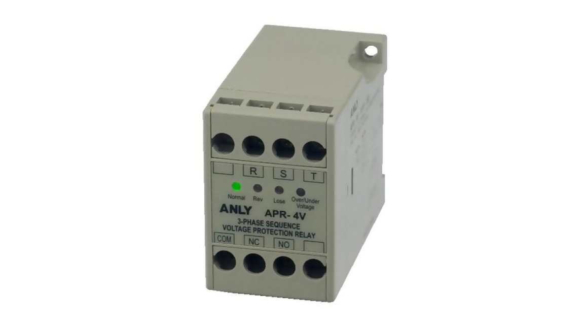 Logo APR-4V 3-PHASE SEQUENCE VOLTAGE PROTECTION RELAY