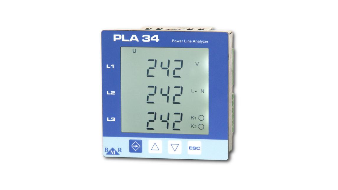 Logo PLA34 - power quality analyser class S