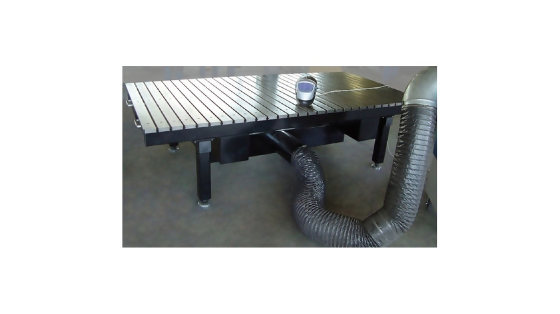 Logo Welding Table with Fume Capture