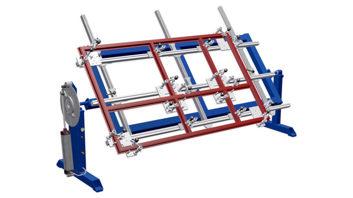 Logo Frame welding device