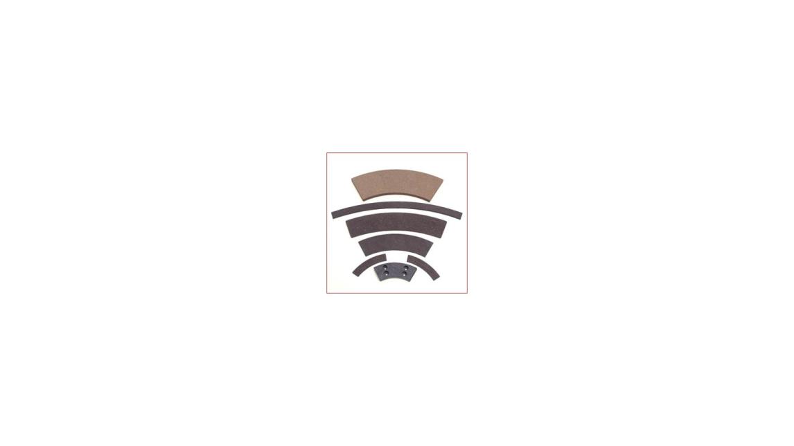 Logo segments, friction material, friction materials