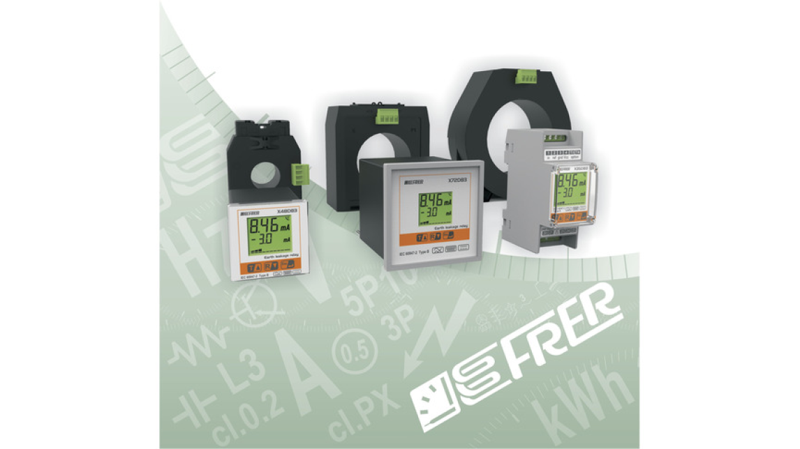 Logo New earth leakage relays and sensors