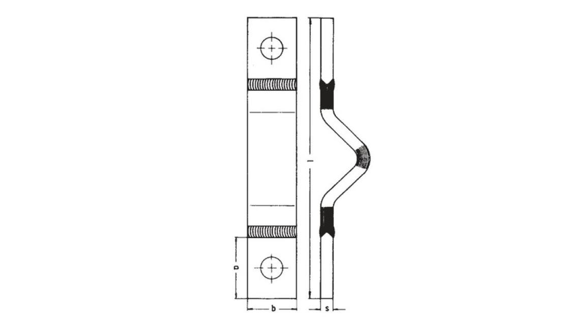Logo Schutzgasgeschweisste Aluminium-Dehnungsbänder
