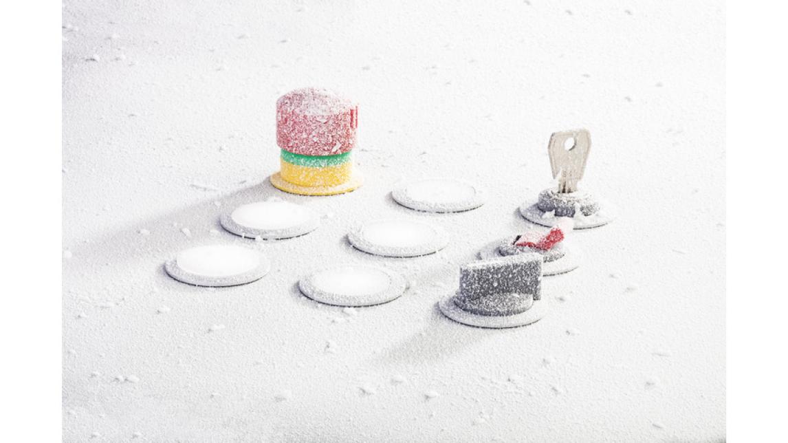 Logo Design-awarded control devices for sub-zero temperatures