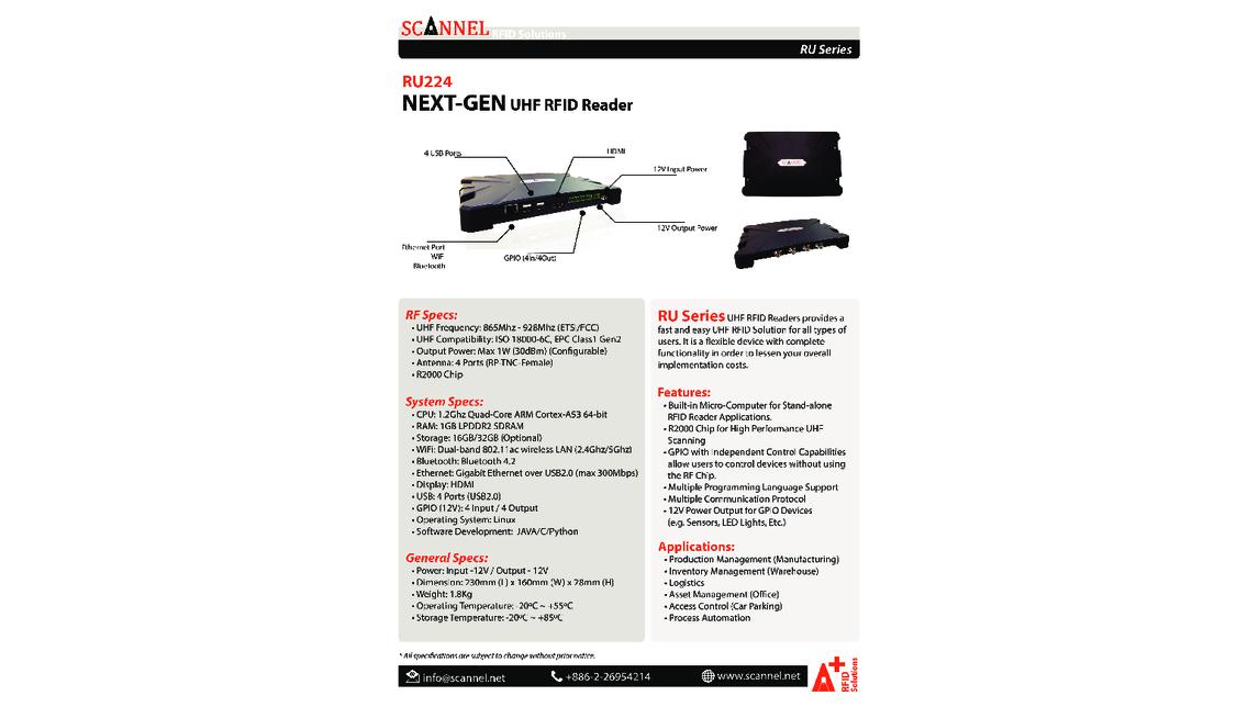 NEXT-Gen  UHF RFID Reader - Product - HANNOVER MESSE 2019
