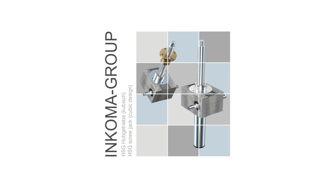 Logo INKOMA - HSG screw jack (cubic design)