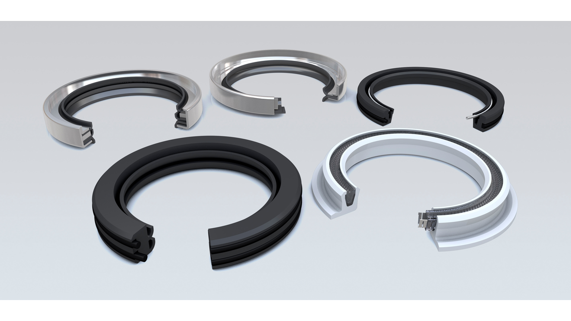 Logo PTFE shaft seals for high pressure
