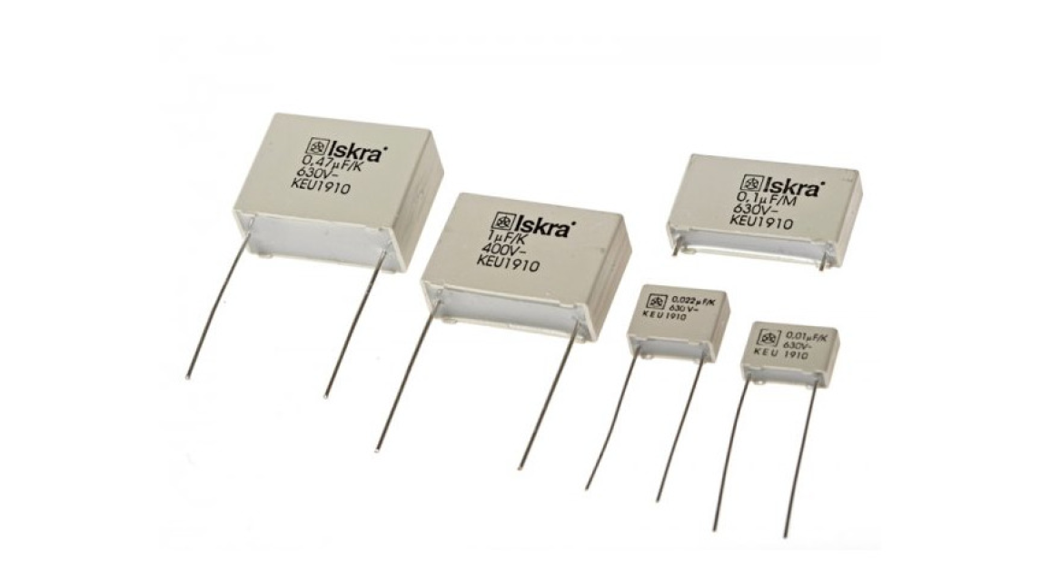 Logo Capacitors for use in electronics