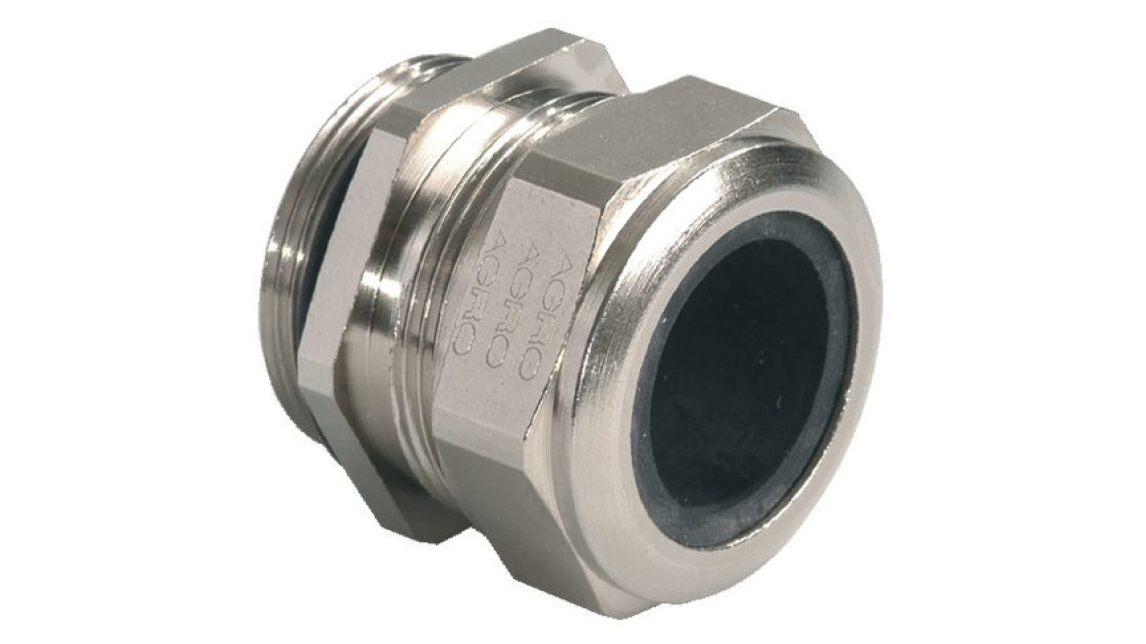 Logo Cable glands nickel-plated brass