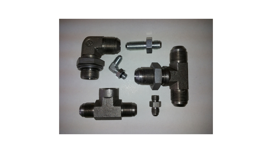 Logo Hydraulic fittings with flanged tube end