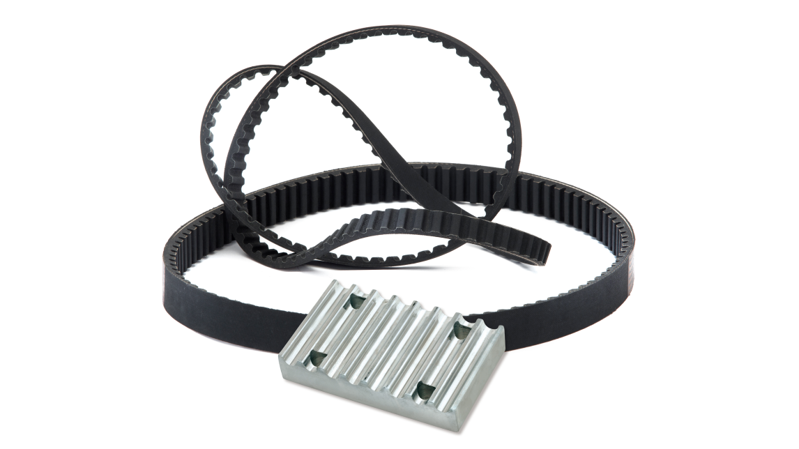 Logo Timing Belts and Clamping Plate