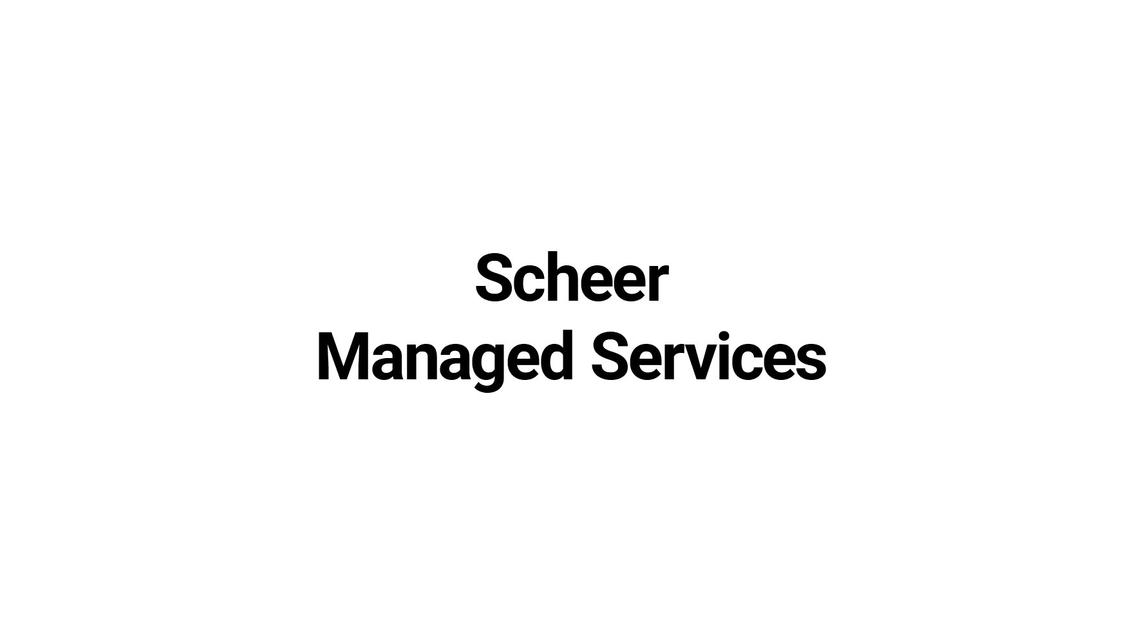 Logo Scheer Managed Services