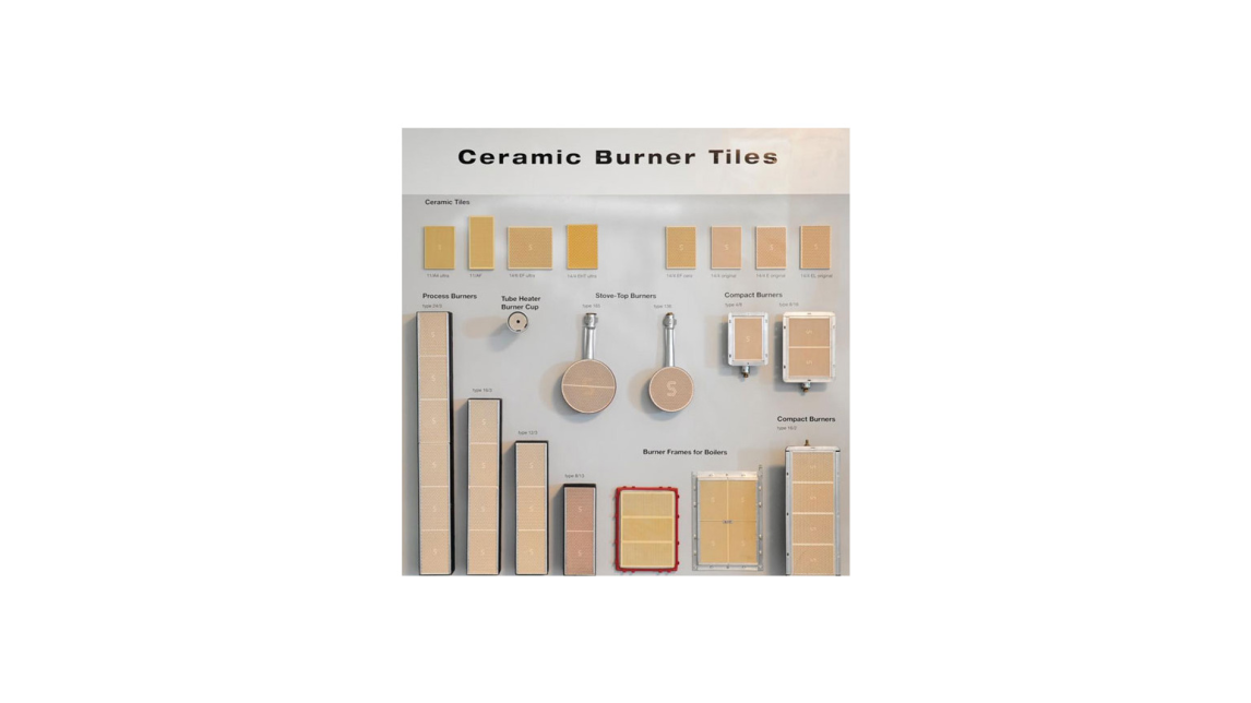 Logo Ceramic Tiles and Burners