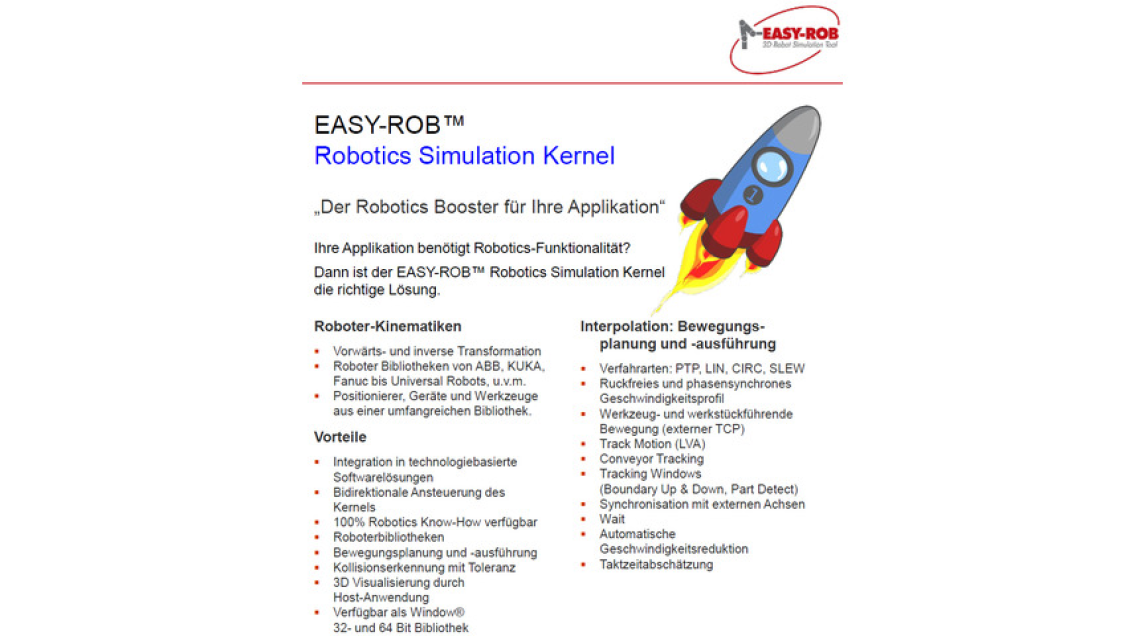 Logo EASY-ROB Robotics Simulation Kernel