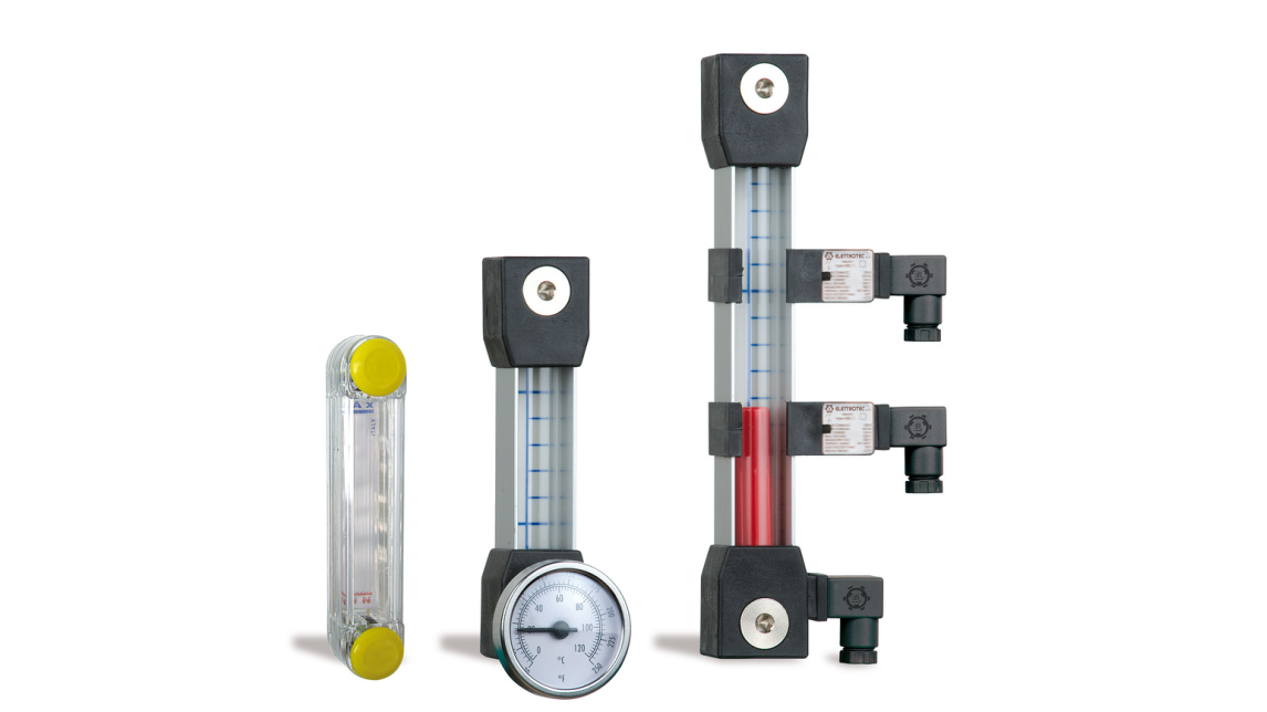 Logo Electric and visual level gauges