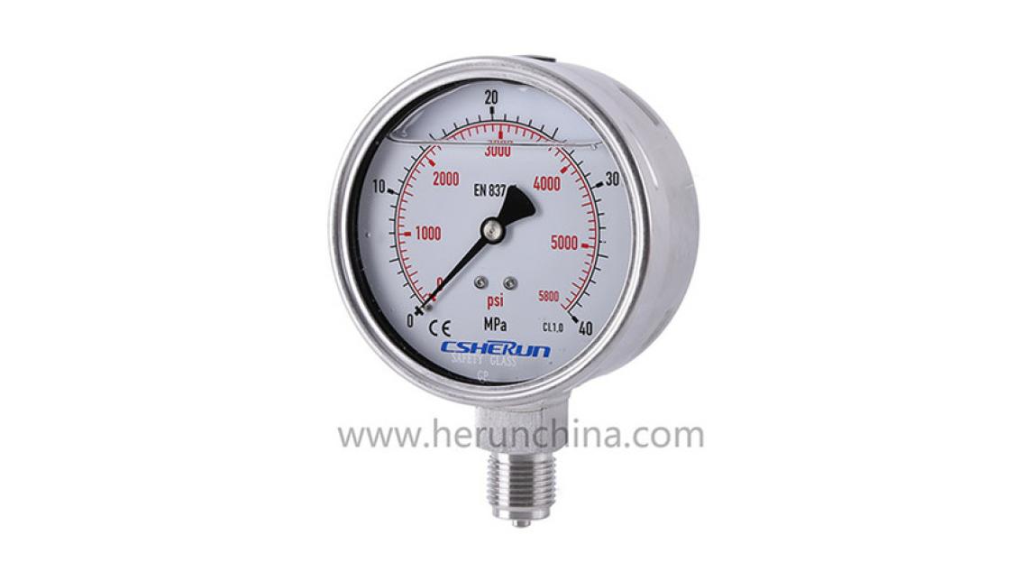Logo Liquid filled pressure gauge
