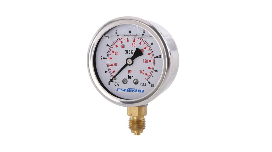 Logo Glycerine filling pressure gauge