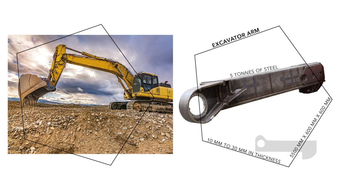 Logo Excavator side frame