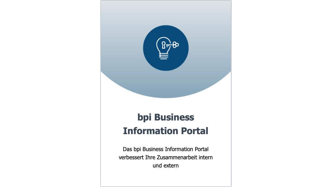 Logo bpi Business Information Portal