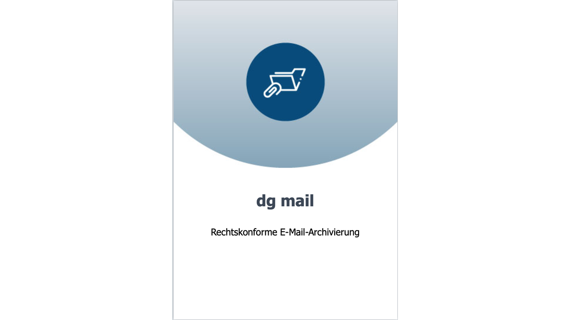 Logo E-mail archiving with dg mail
