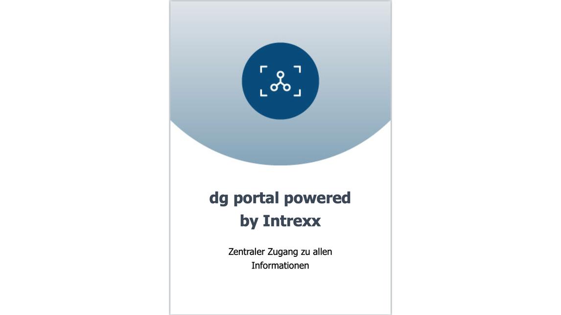 Logo dg portal / intrexx: APPs & Portals