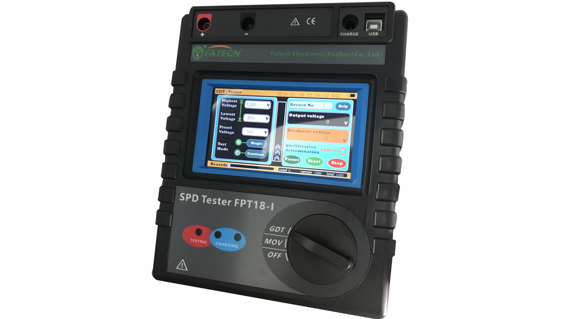 Logo FINGER TOUCH SCREEN SPD TESTER