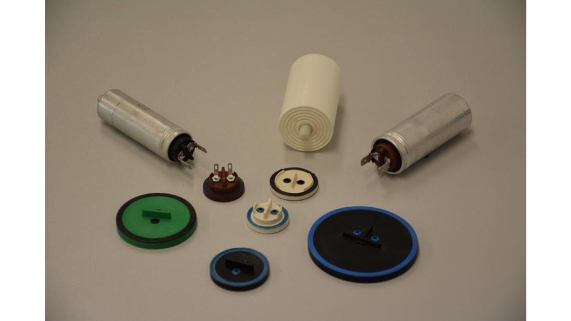Logo Elements for capacitors