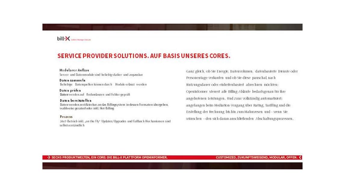 Logo Service-Provider-Lösungen mit bill-X