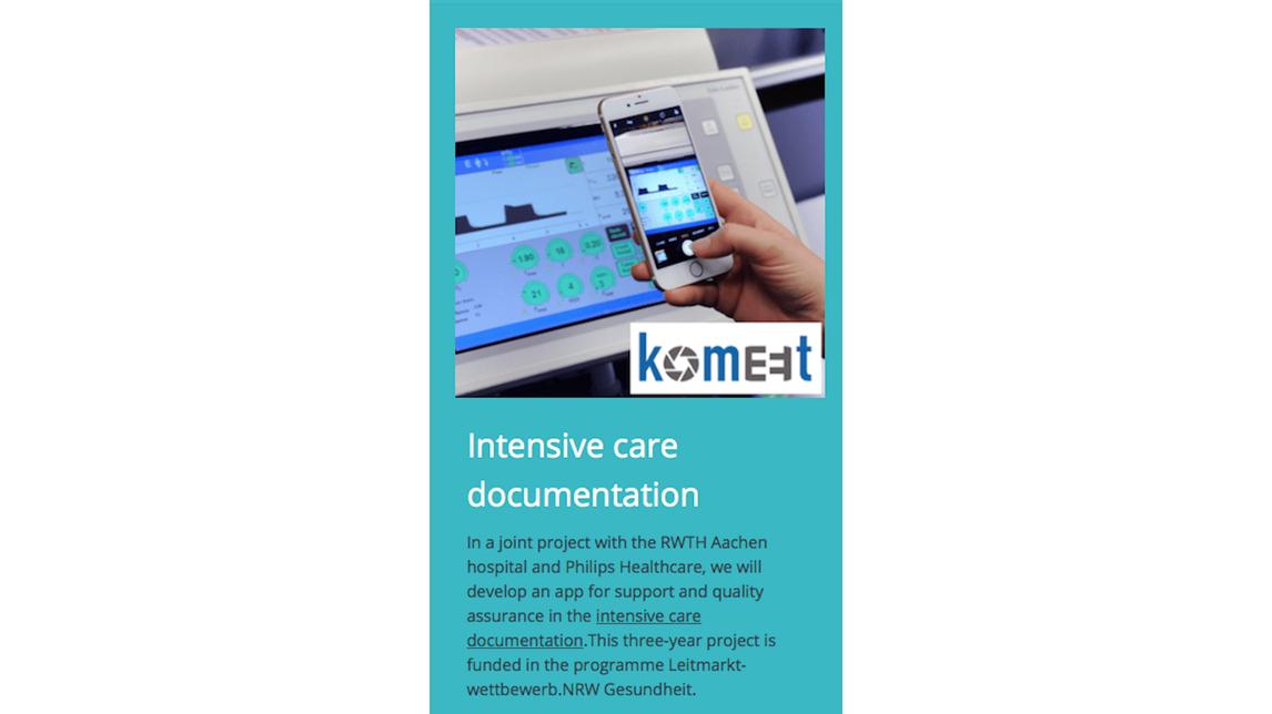 Logo KOMEET - mobile Pflegedokumentation-App