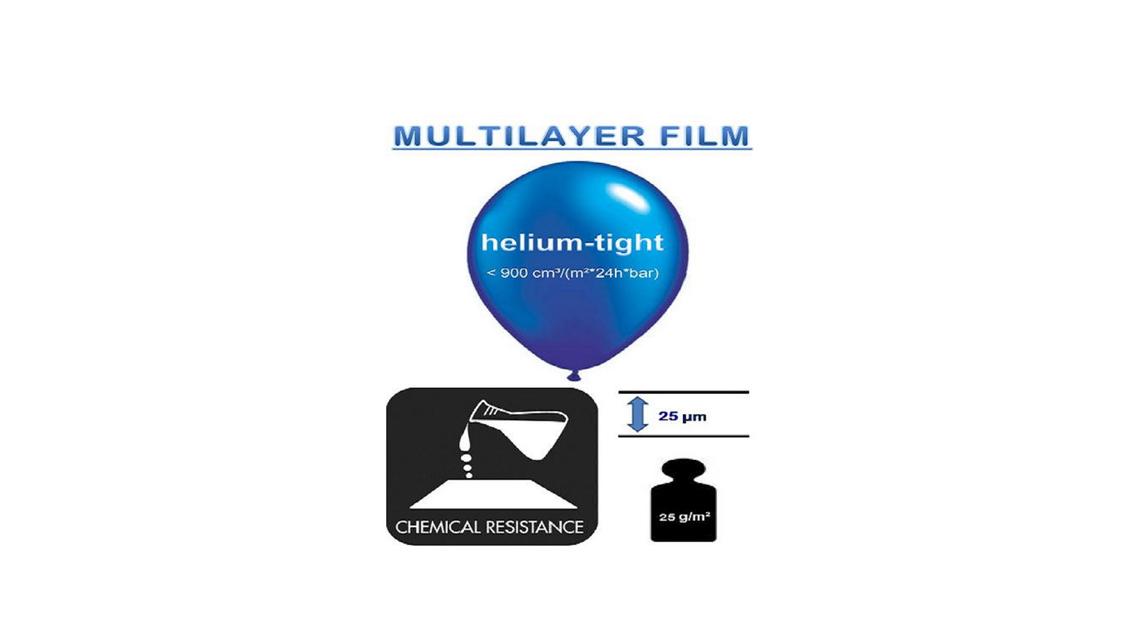Logo MULTILAYER FILM  gas- helium dicht