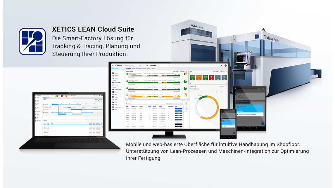 Logo XETICS LEAN Cloud Suite