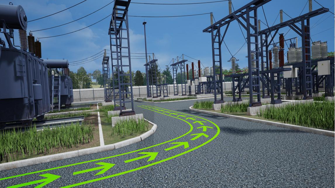 Logo VR Training für elektrische Unterstation