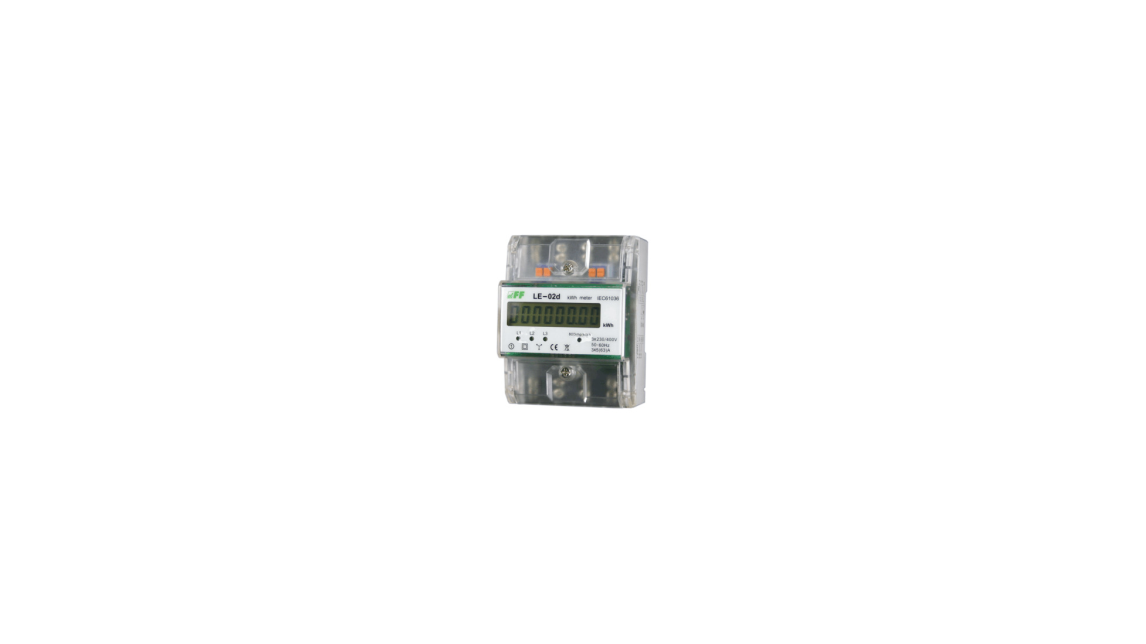 Logo LE-02d Three-phase energy meter. Maximum current 63A.