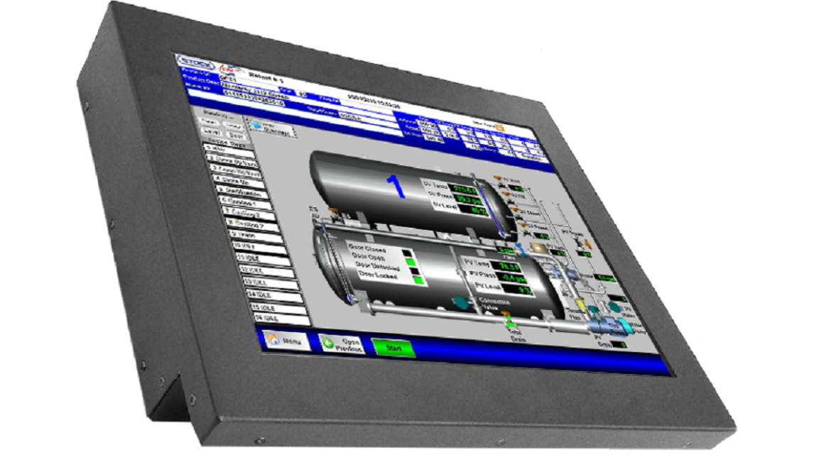Logo PC panel & monitors - industrial equip.