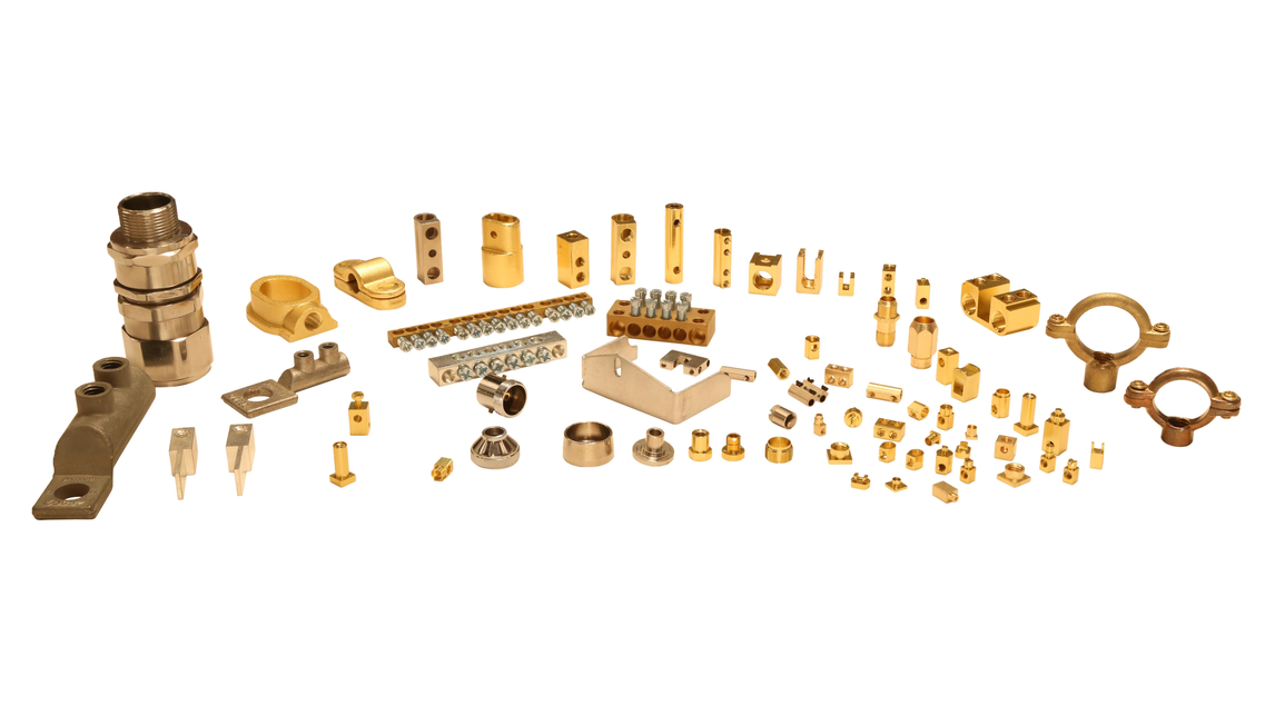 Logo Brass Electric Parts