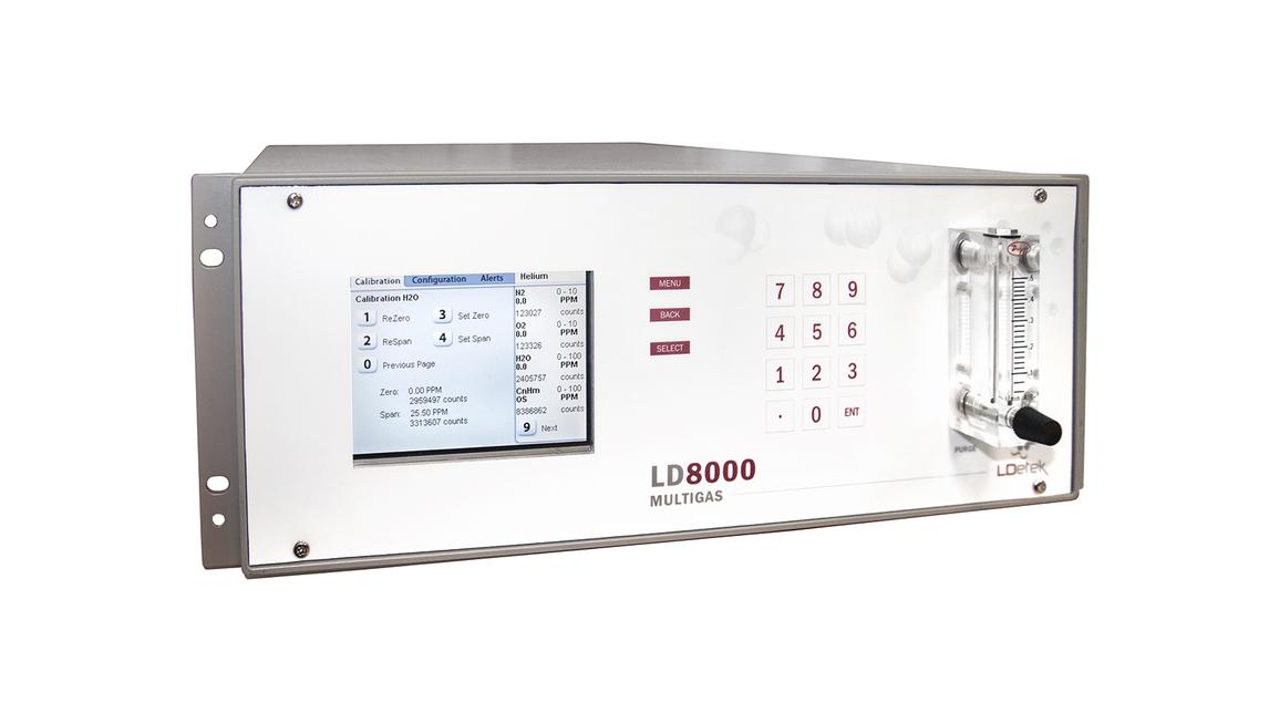 Logo LD8000 Multigas, trace N2, O2, H2O, CnHm