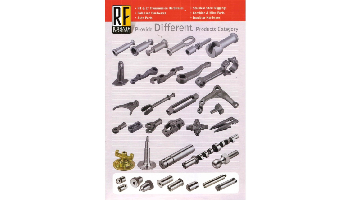 Logo Components from a variety of steel