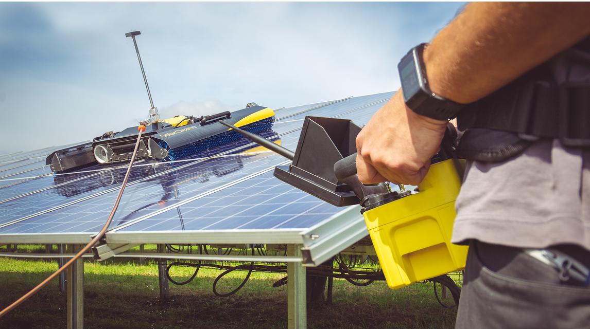 Logo Reinigungsroboter für Solarmodule