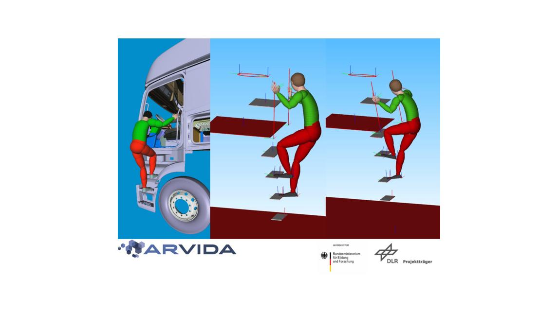 Logo Modellierung menschlicher Bewegungen