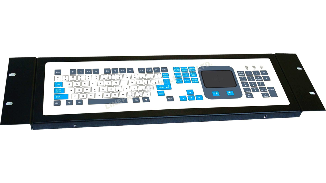 Logo Membrane keyboard with touchpad