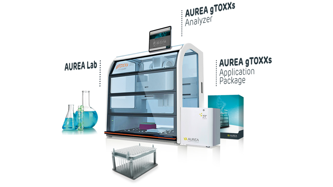 Logo AUREA gTOXXs Automated Genotox Solution