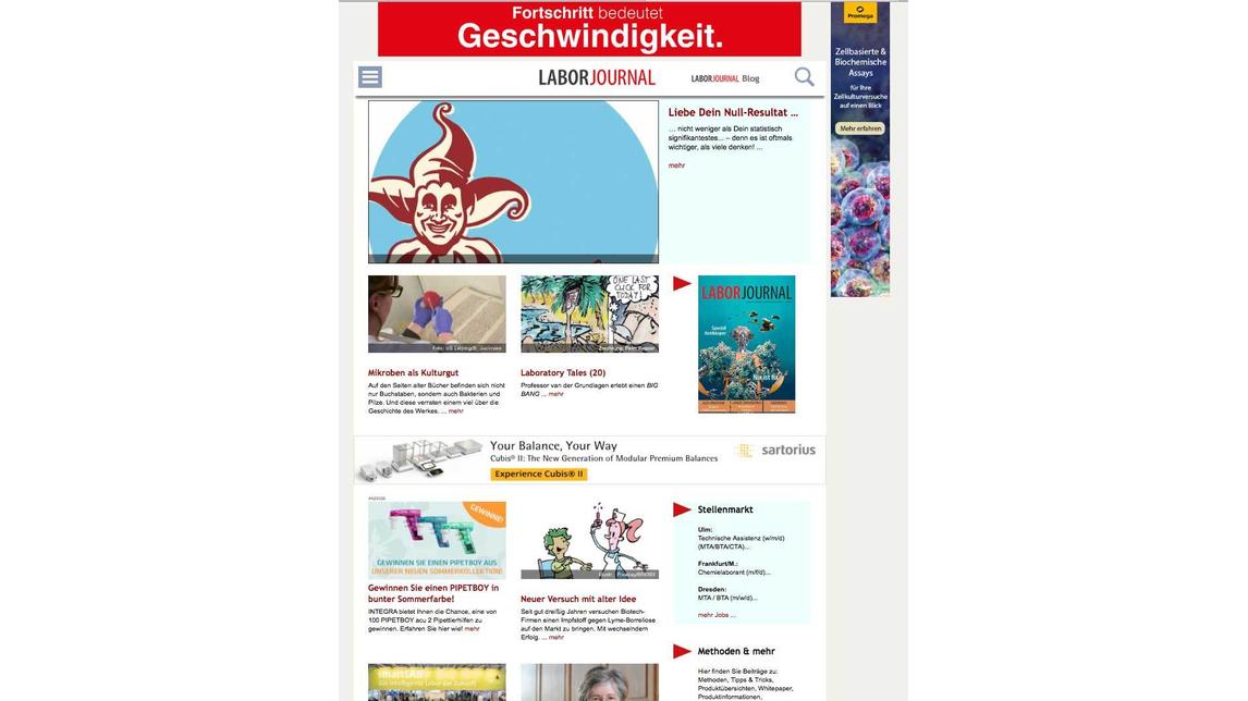 Logo Laborjournal und Laborjournal online