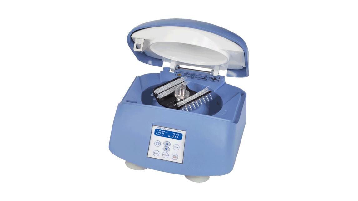 Logo BlueSpin Mini Zentrifuge