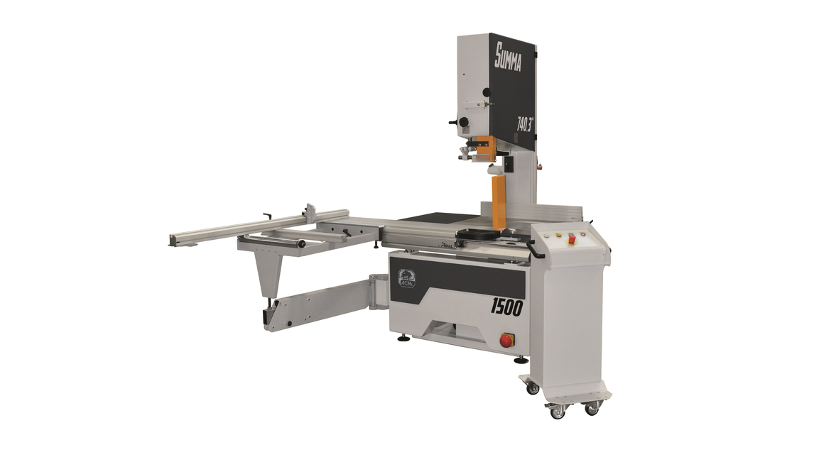 Logo Band saw with carriage