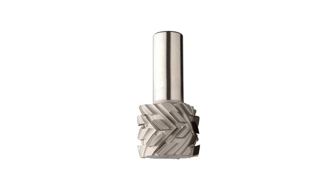 Logo Diamantschaftfräser mit 40° Scherwinkel zum Schruppen