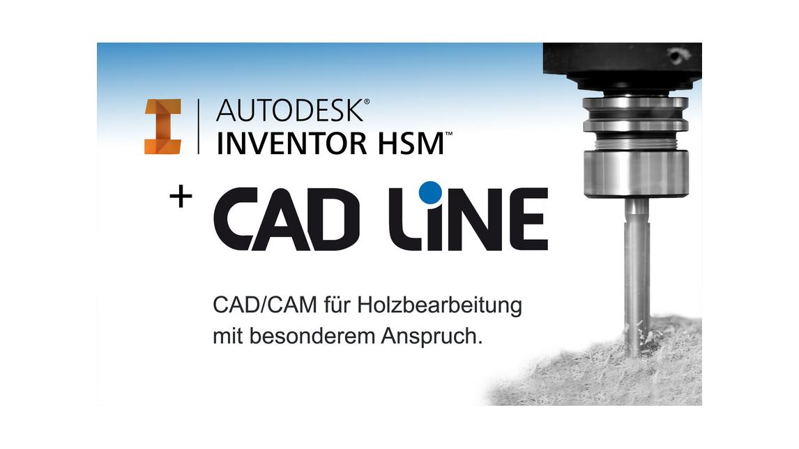 Logo Autodesk InventorHSM + CAD Line CAM