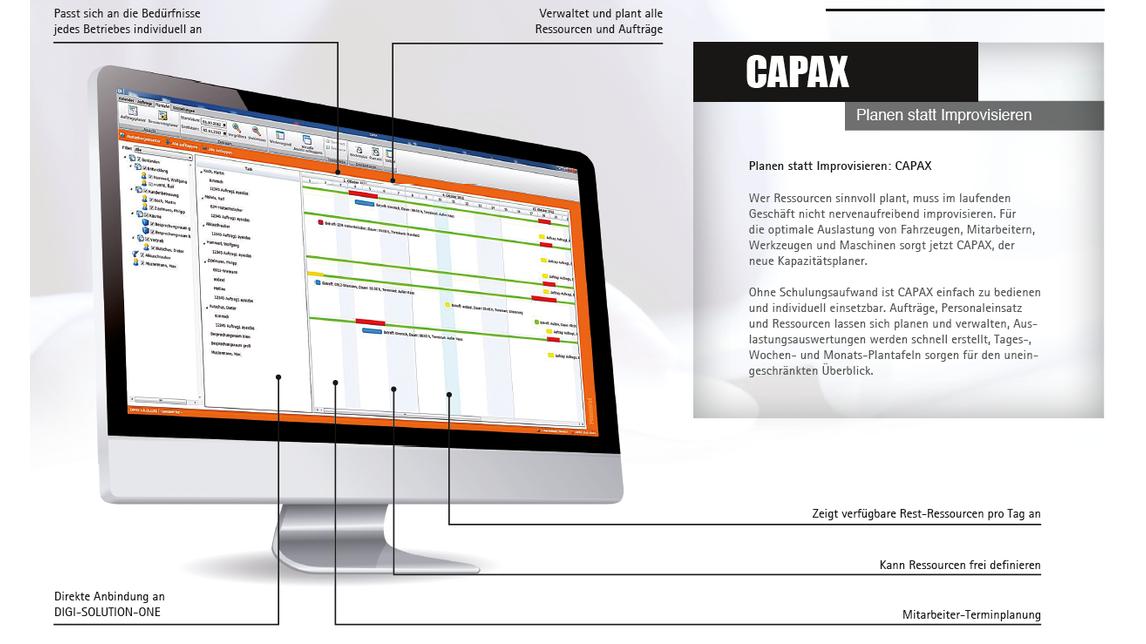 Logo CAPAX - der Kapazitätsplaner