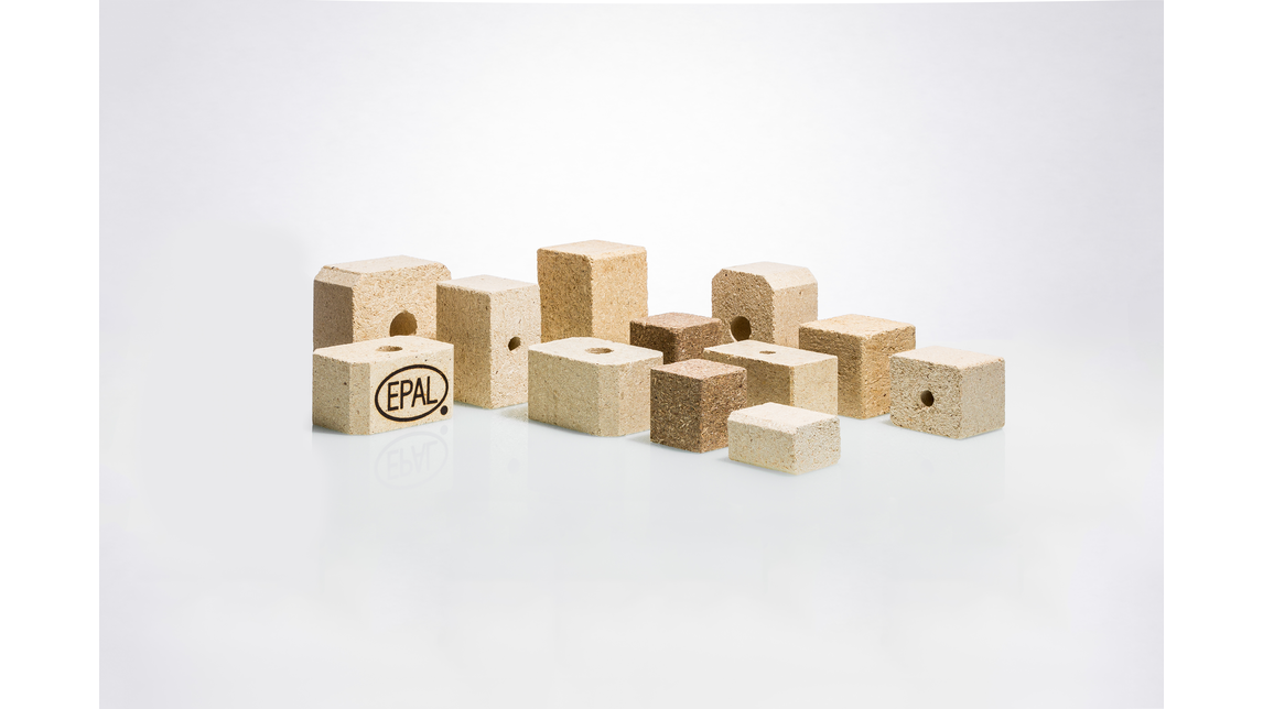 Logo Pallet blocks and packaging timber